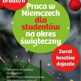 Praca dla studentów/uczniów na okres świąteczny